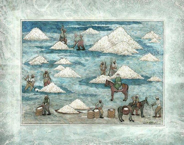 Gülçin Anmaç   Tuz İşcileri Tuz işçilerinin geleneksel çalışma yöntemleri anlatılmıştır