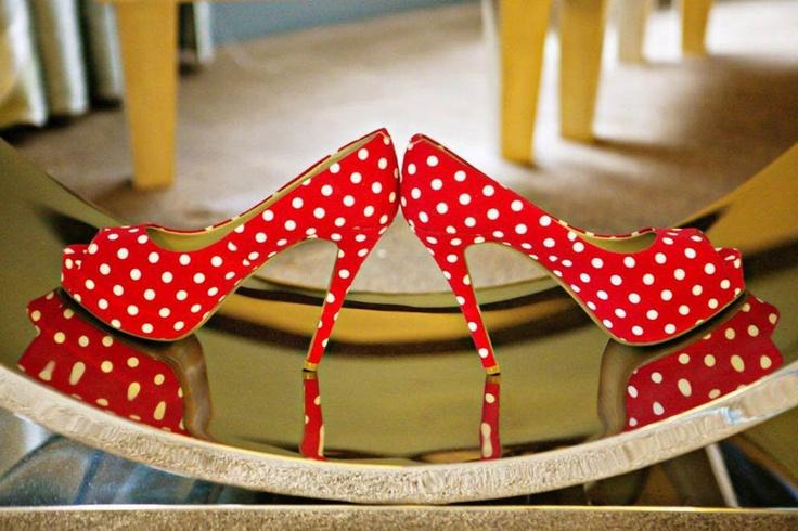 Rockabilly Red Wedding Shoes