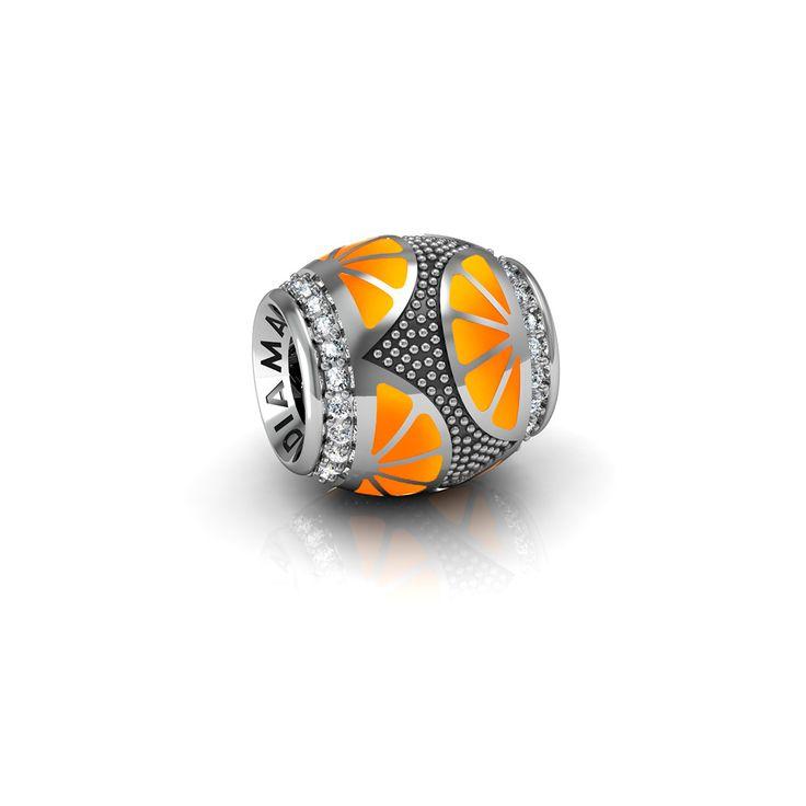 Подвеска-перлина «Апельсиновые дольки»