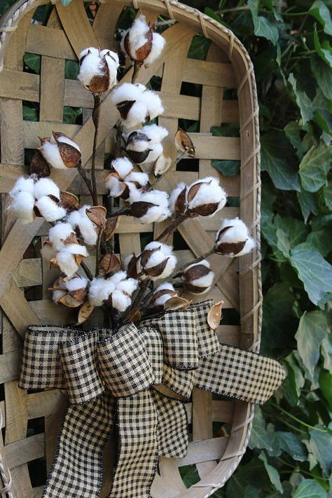 Cotton Boll Tobacco Basket Farmhouse Style Gallery Wall