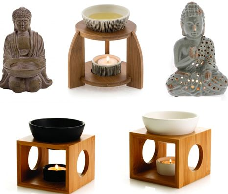 Buddha influenced and oil burners set a room full of harmony. find @ stylehaus boutique
