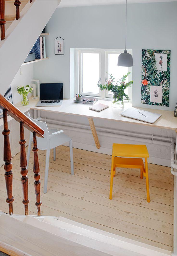Kontor | Sådan får du et minikontor med skrå vægge | Boligmagasinet.dk