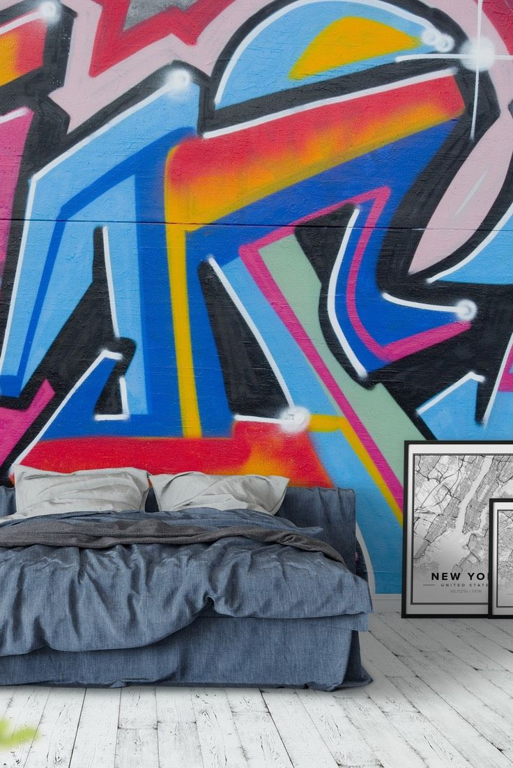 Graffiti Colours Wall Mural   Wallpaper Part 70