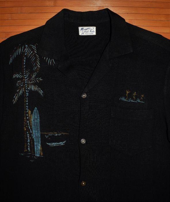ccfb31fa Vintage Hale Kala Surfing Linen Hawaiian Aloha Shirt | Vintage ...
