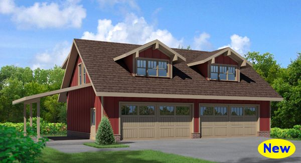 The 17 best images about detached garage plans with for 4 car garage with apartment above