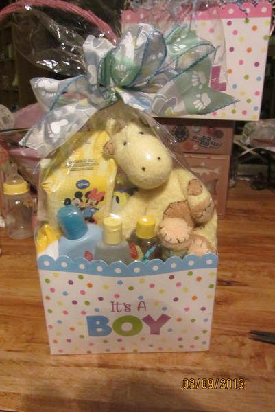 When you want to give a simple and cute gift for a baby boy!