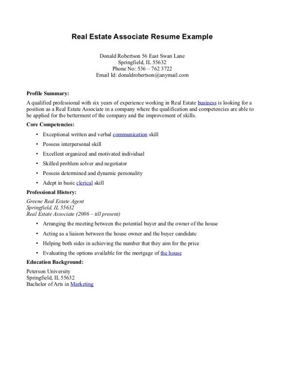 others-real-estate-agent-resume-associate-and-profile-summary-plus-core-competencies-585x757.jpg (585×757)