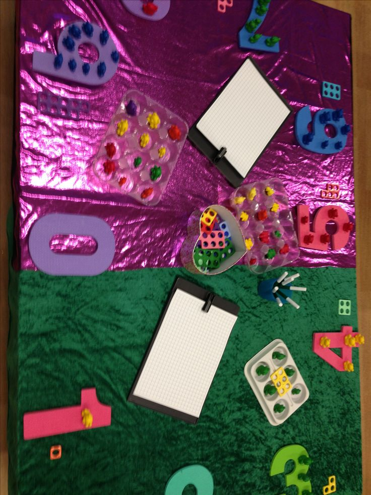 Counting, matching, numicon, compare bears