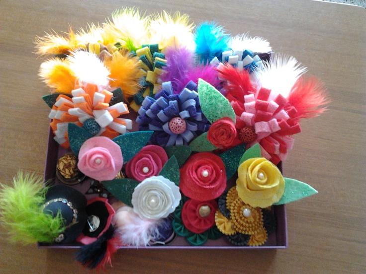 Maravillosos broches, con colores de la Primavera