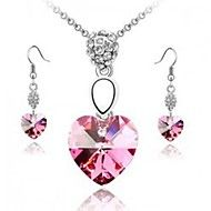 Pink necklaces earrings jewelry set (1 set) – AUD $ 10.75