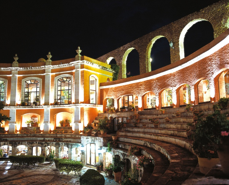 Zacatecas.... This was one of my favorite places I visited when living in Mexico.  I found this on here, and must explain it originally was historic bull fighting arena, and has now been turned into a beautiful hotel.  Love this!