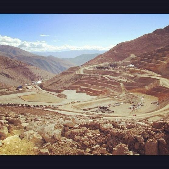 Vista de minera Caserones