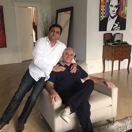 Um irmão: Geraldo Luís se tornou um importante apoio para Marcelo Rezende - 27/05/2017 - UOL TV e Famosos
