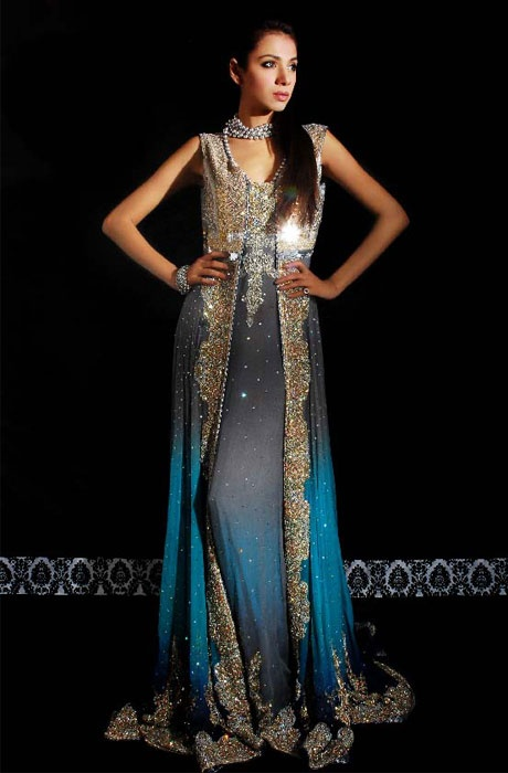 #Rani Emaan #blue #Anarkali