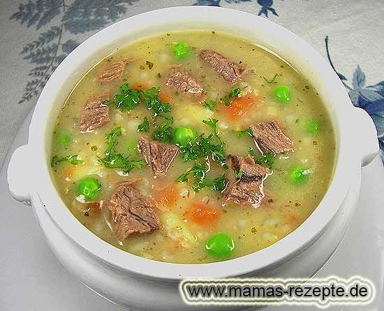 Rezept Rindfleisch - Graupeneintopf auf Mamas Rezepte Homepage