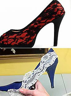 Переделка туфель своими руками: сделаем модные кружевные туфли