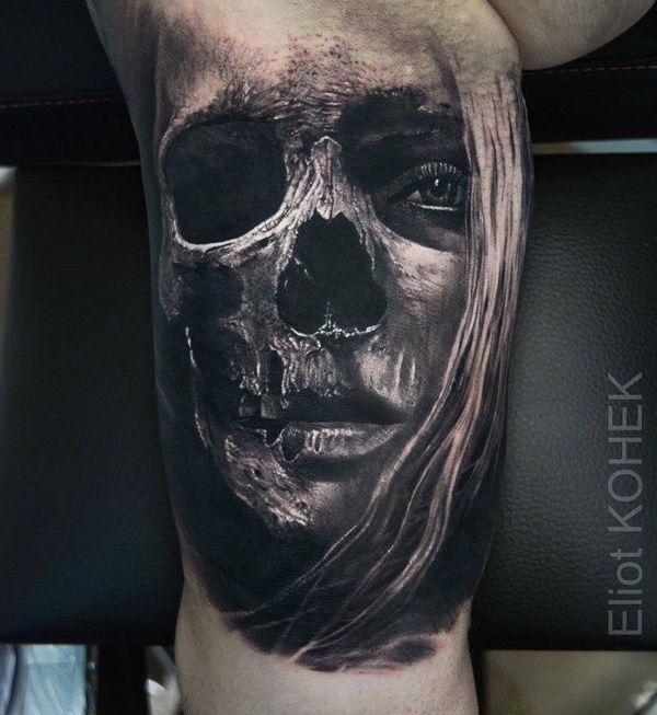 25+ Best Ideas About Skull Face Tattoo On Pinterest