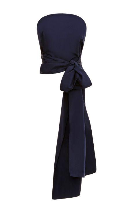 Silk-Faille Bow-Back Top by Rosie Assoulin