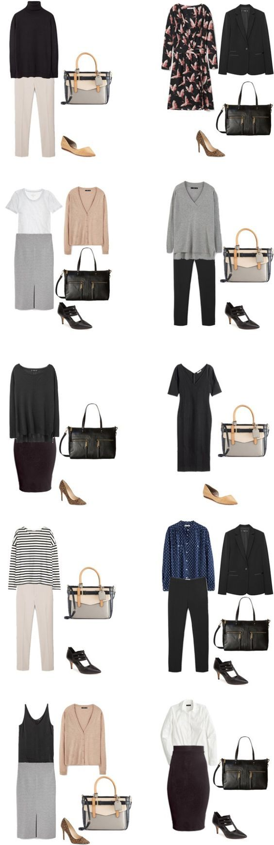 Basic Work Capsule Outfits 11-20 #capsulewardrobe #workwardrobe #workwear #capsule:
