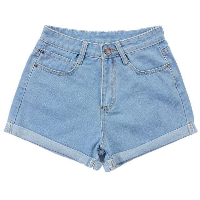 Новый 2016 летние высокой талией джинсовые шорты синий свободного покроя Большой размер женские женщины короткие джинсы дамы широкий джинсовые шорты 26 - 32 S2033