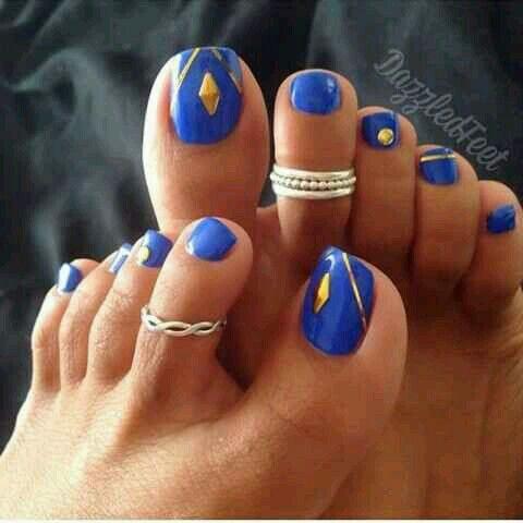 15 pines de u as pies pintadas que no te puedes perder - Disenos de unas pintadas ...