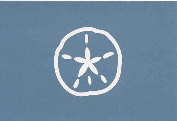Sand Dollar Shell Wall Decal  Wall Decal or Car by SpecialCuts, $4.00