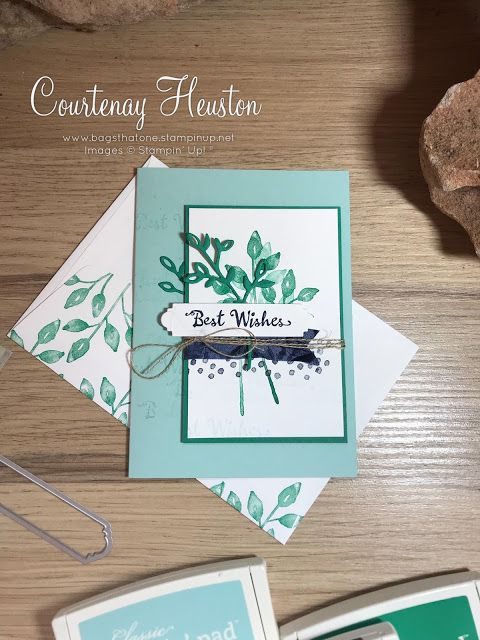 Bags That One!: Stampin' Up! Petal Palette Greeting Card. Pool Party, Night of Navy, Emerald Envy. Video available on blog