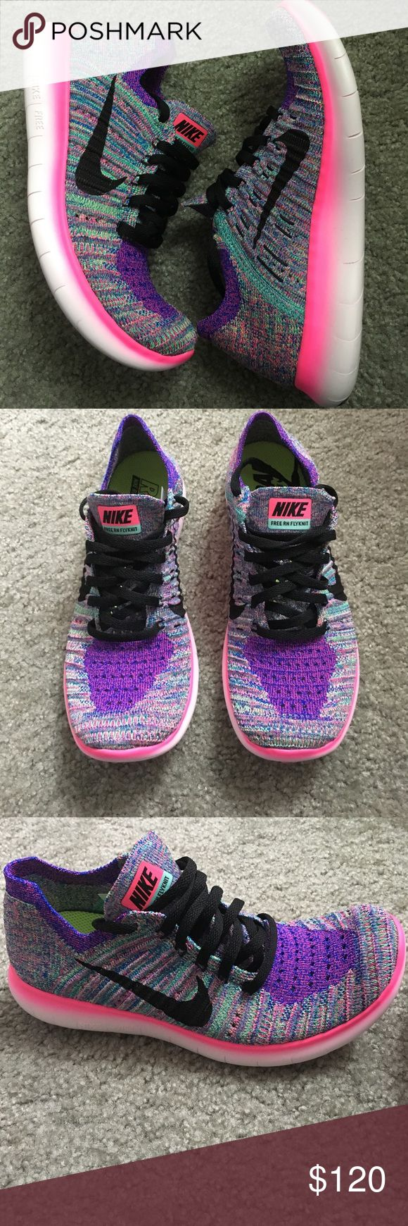 Nike multicolor flyknit free Excellent condition. Multicolor flyknit free. Only worn once practically new. Nike Shoes Sneakers