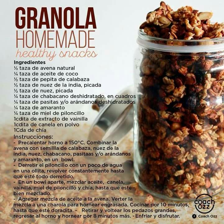 Granola casera                                                                                                                                                      Más