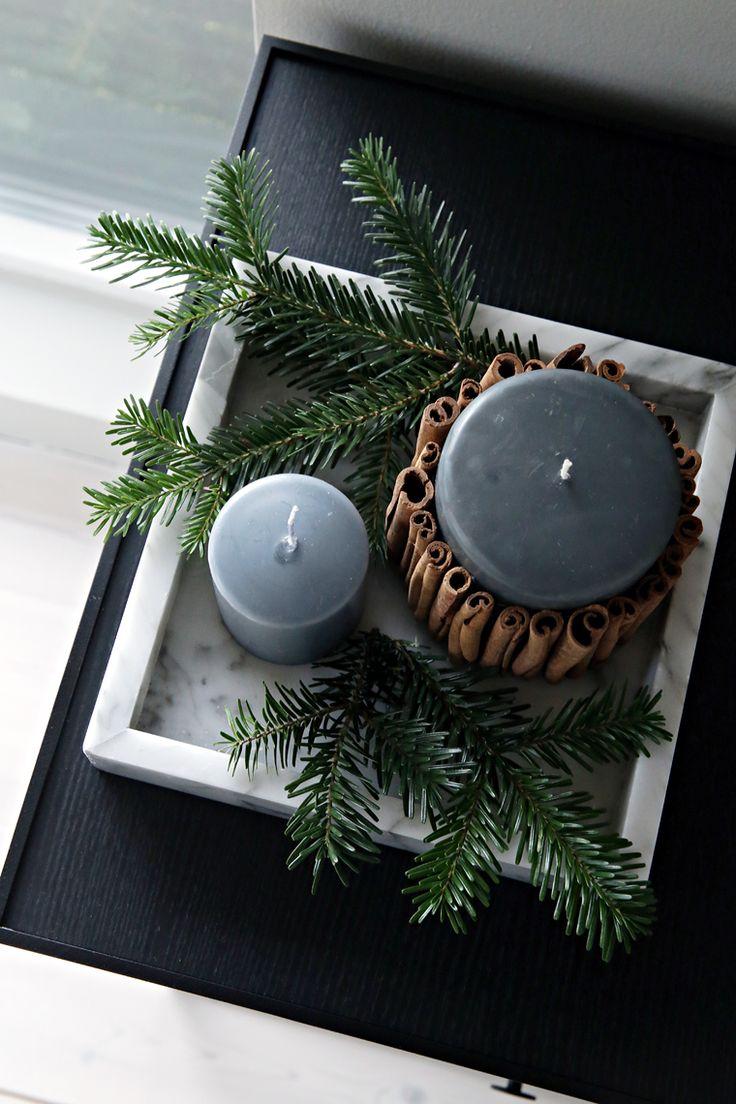 DIY Christmas candle