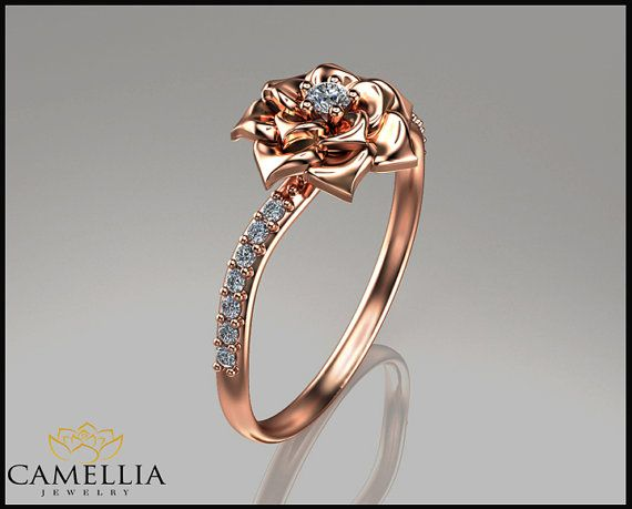 Hey, I found this really awesome Etsy listing at https://www.etsy.com/listing/223092213/camellia-flower-ring-14k-rose-gold