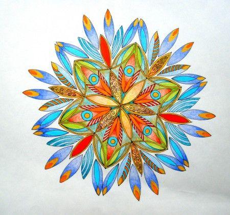 Mandalala No.103, CHRISTMAS FLOWER , 2014, 35 x 35 cm