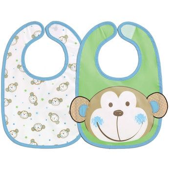"Babies ""R"" Us Monkey Bibs - 2 Pack"