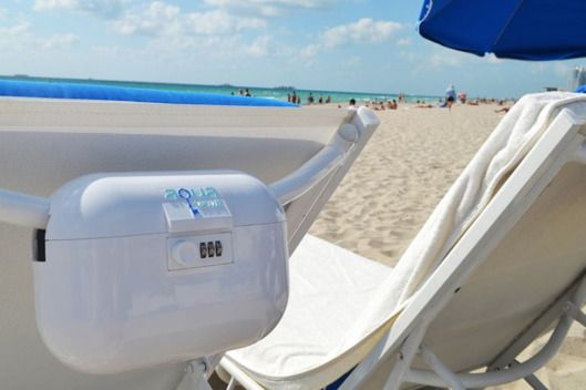 Keep the phone, wallet, keys, books, and food secure while you walk off into the ocean.