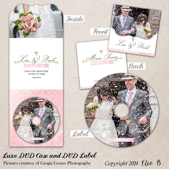 Wedding Luxe Folded Dvd Cover & Label Template - Photoshop Template - M008 - instant download  SHOP AT: etsy.com/shop/eleob SEARCH WITH THE CODE   Pictures by Giorgia Gonzo Photography  Model Severine and Antonio