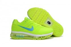 High Quality Nike Air Max 2017 KPU Fluorescent green Women's Running Shoes Sneakers 849561 660