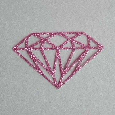 Diamant thermocollant vieux rose pailleté