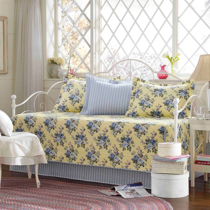 Laura Ashley Linley 5 Piece Daybed Set - Pale Yellow (Daybed)