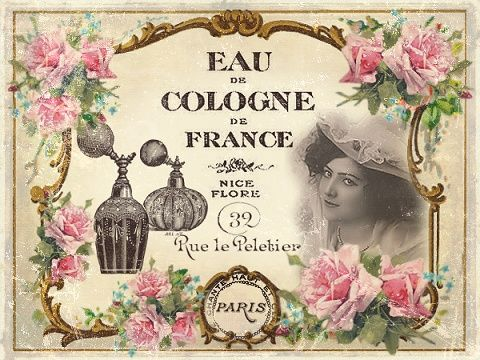 Vintage Shabby Pink! shabby chic perfume label pretty to decoupage to a bottle