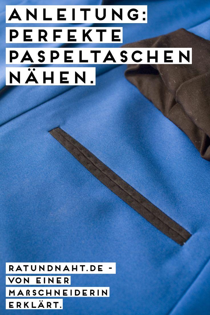 Nähanleitung mit Bildern: Paspeltasche nähen - mit diesen Tricks aus dem Schneiderhandwerk wird eure Paspeltasche perfekt!