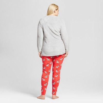 Nite Nite By Munki Munki Womenu0027s Plus Size Fleece Long Sleeve Tunic And  Jersey Leggings Pajama
