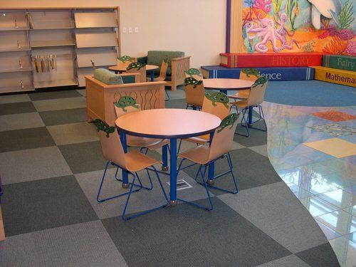 TMC Lorca tables  Flick chairs and Algonquin lounge chairs    Library  Interior Designs   School LibrariesLibrary FurnitureLounge. 16 best Mark Twain Neighborhood Library   Installations images on