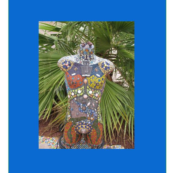 FOR SALE!!! Future Warrior Man Mosaic Torso Sculpture by CrystalDiamondDesign, $2899.99
