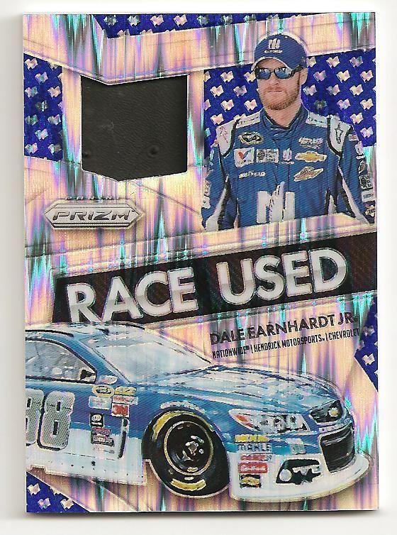 2016 PANINI NASCAR CARDS RACE USED TIRE BLUE FLAG PRIZM DALE EARNHARDT JR 21/49