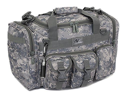 """Mens 18"""" Inch ACU Digital Camo Duffel Duffle Military Molle Tactical Gear Shoulder Strap Travel Bag"""