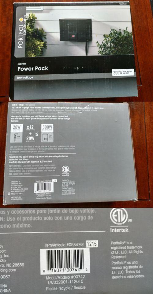 Other Outdoor Lighting 20509: Portfolio 300 Watt 12-Volt Power Pack Low Voltage Landscape Lighting Transformer -> BUY IT NOW ONLY: $65 on eBay!