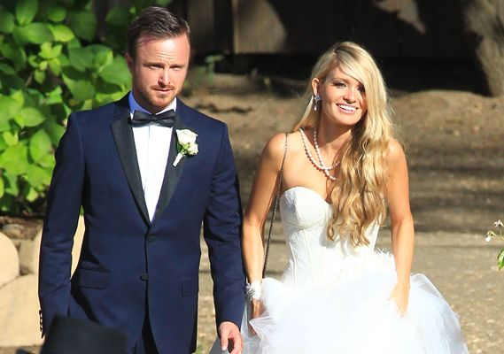 Aaron Paul and Lauren Parsekian Wedding