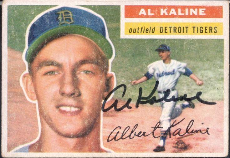 1956 topps al kaline autograph baseball cards detroit