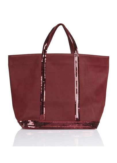 Cabas en cuir poncé et sequins Medium Rouge by VANESSA BRUNO