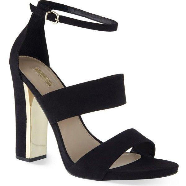 CARVELA Gossip heeled sandals ($175) ❤ liked on Polyvore featuring shoes, sandals, black, black shoes, kohl shoes, high heel sandals, black sandals and carvela shoes